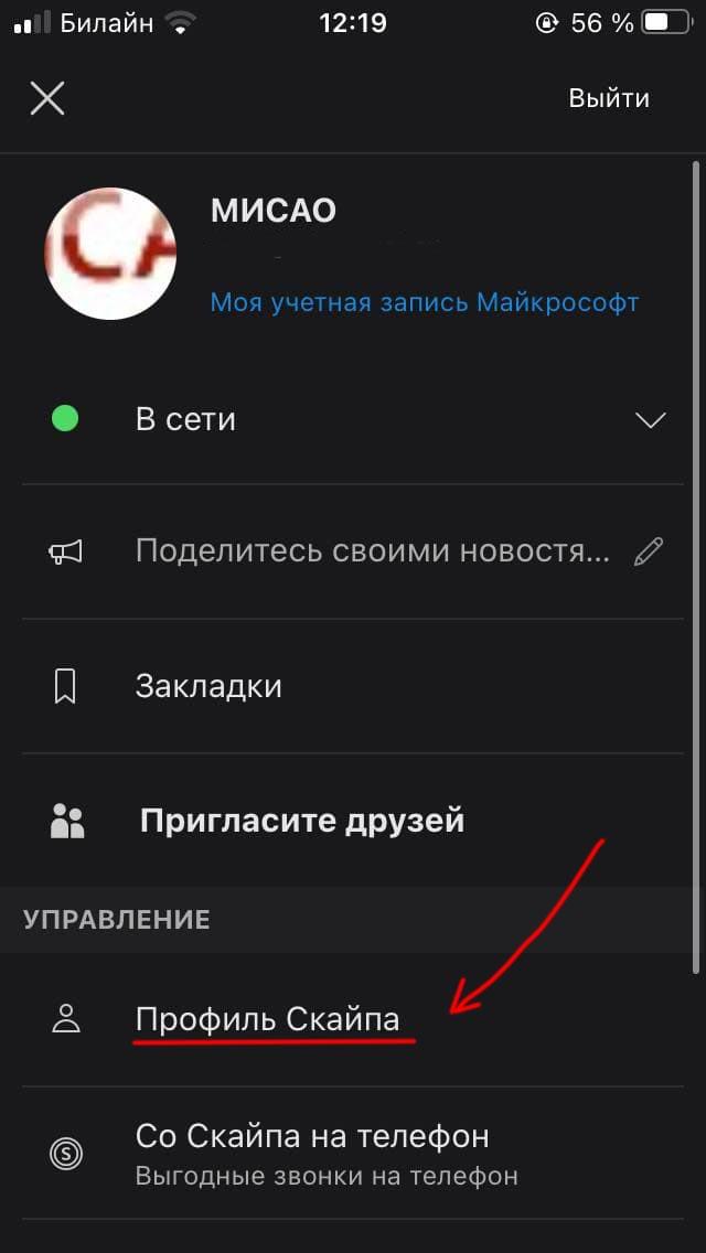 skype mobile screenshot 2