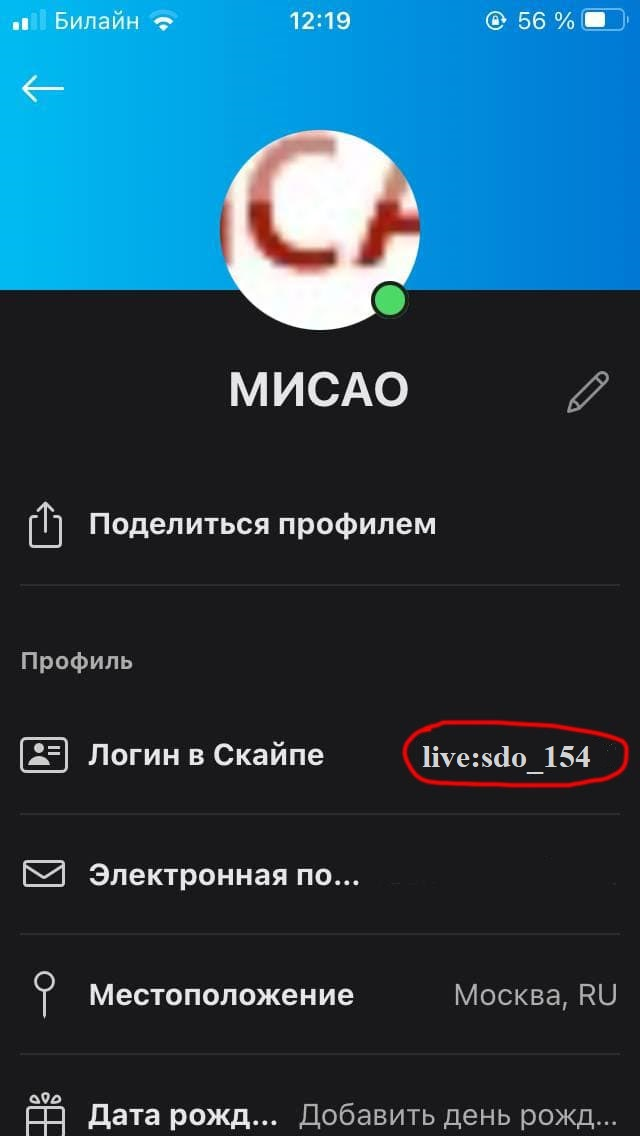 skype mobile screenshot 3